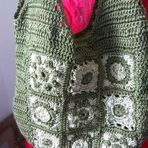 Handbags - Boho hippie crotched bag in olive green darling